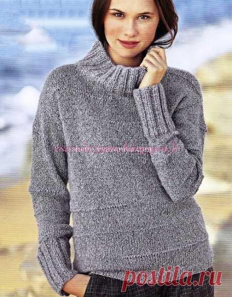 ВСЕ СВЯЗАНО. ROSOMAHA.: Офигенно простой, но очень стильный свитер из шелкового твида. Или из того, что есть! Выйдет не хуже!