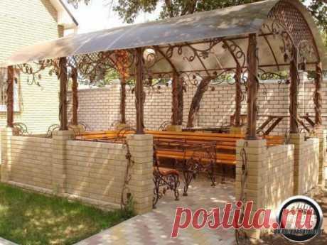 Красивые веранды и беседки на даче