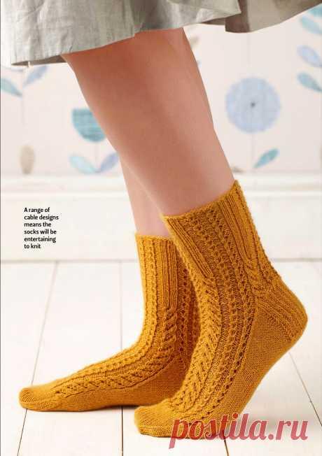 Вязание носков спицами и крючком, схемы и описания - Вяжи.ру - модели 2