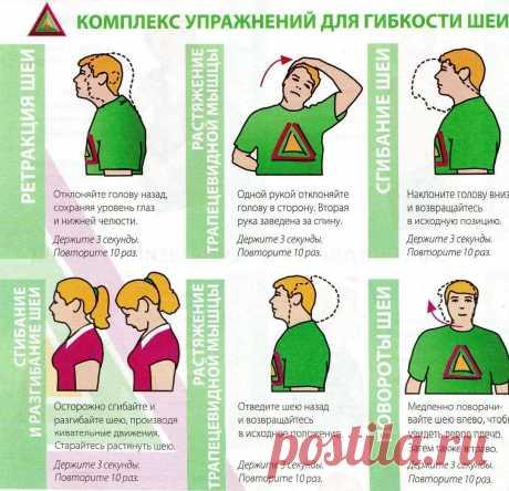 гимнастика для шеи: 5 тыс изображений найдено в Яндекс.Картинках