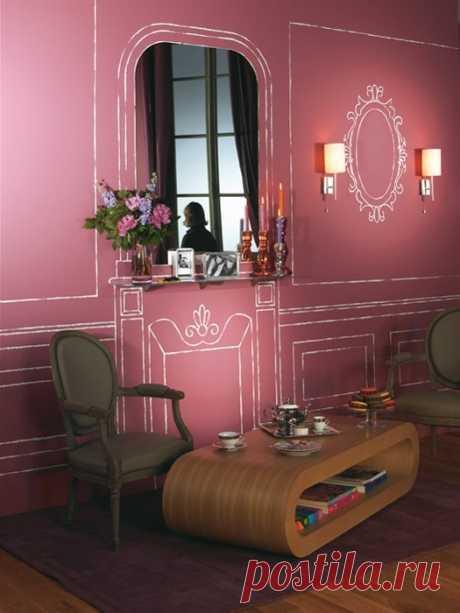 Минималистичный фьюжн в стиле рококо / Декор стен / Модный сайт о стильной переделке одежды и интерьера