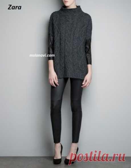 Вязаный свитер от Zara   Вяжем с Лана Ви
