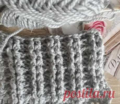 Резинка крючком Вертикальная | Вязание - любовь и заработок | Яндекс Дзен