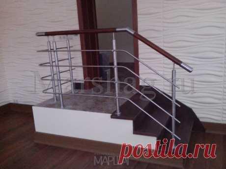 Изготовление лестниц, ограждений, перил Маршаг – Комбинированные перила лестничные
