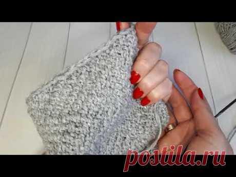 Кромочные петли спицами, как вязать/ Ровный край при вязании/ Край косичкой спицами