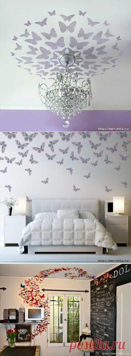 Порхающие бабочки в интерьере | Ваш Дом