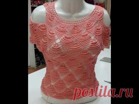 tutorial crochet blusa facil paso a paso/how to do blouse  (with subtitles in several lenguage)