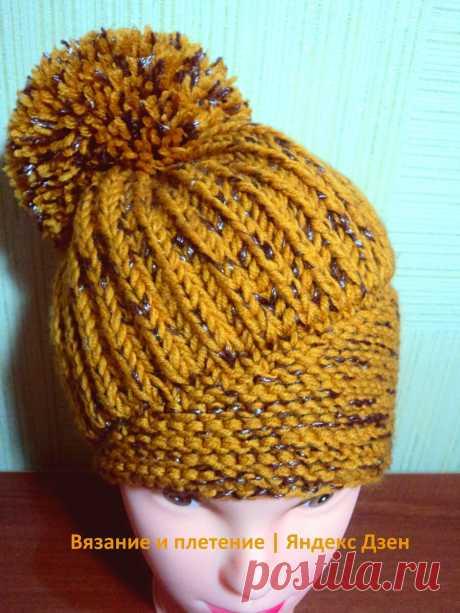 Ультрамодная шапка-берет с помпоном спицами Negin Mirsalehi (Негин Мирсалехи) | Вязание и плетение | Яндекс Дзен