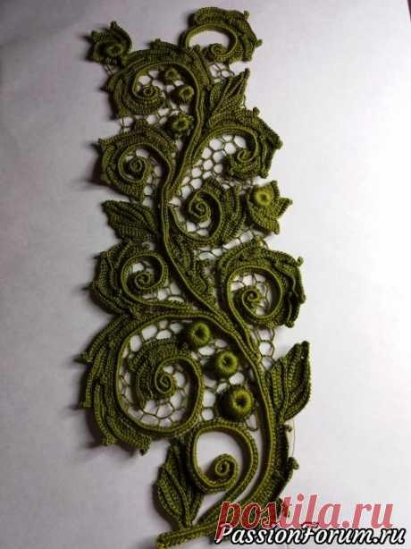 Вставка на платье - запись пользователя Natali (Налалья) в сообществе Вязание крючком в категории Ирландское кружево