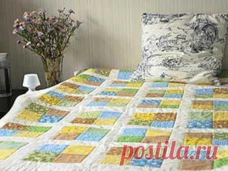 Шьем несложное лоскутное одеяло
