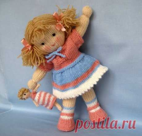 Lulu and little doll knitting pattern INSTANT от dollytime