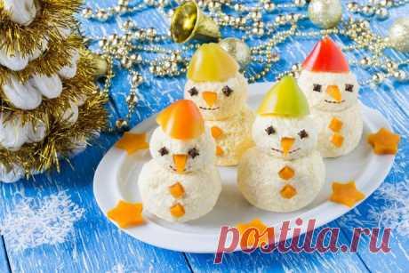 Идеи снеговиков для новогоднего стола