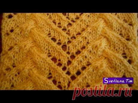 Нереально красивый Узор ФАНТАЗИЙНЫЕ Ажурные КОСЫ. Вязание спицами / Patterns knitting № 70