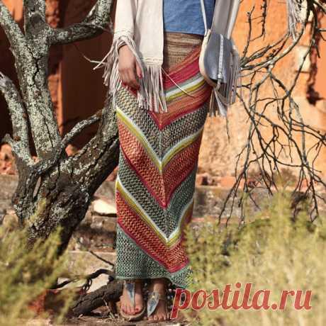 Вяжем потрясающую юбку - макси, подчеркивающую достоинства фигуры