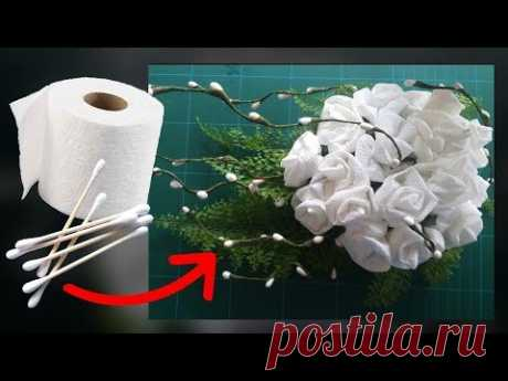 Cotton Buds and Toilet Paper Flower