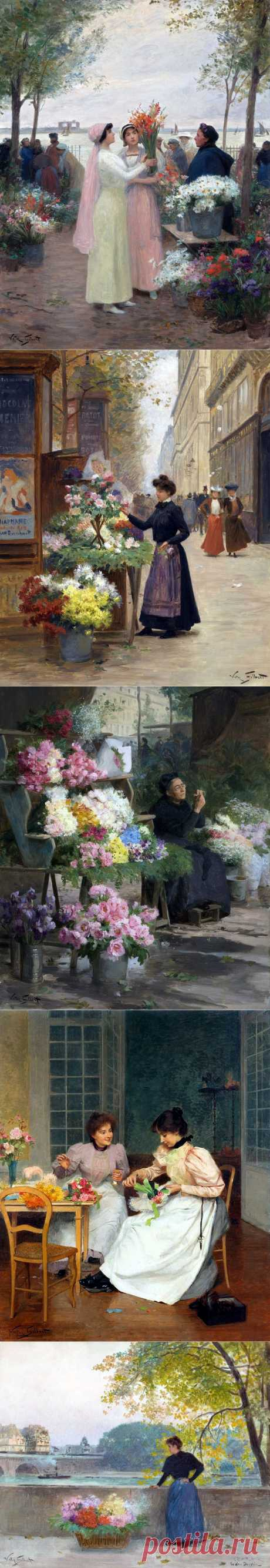 Цветочный базар (день 2-й):«Купите свежие цветы...» | Victor Gabriel Gilbert.