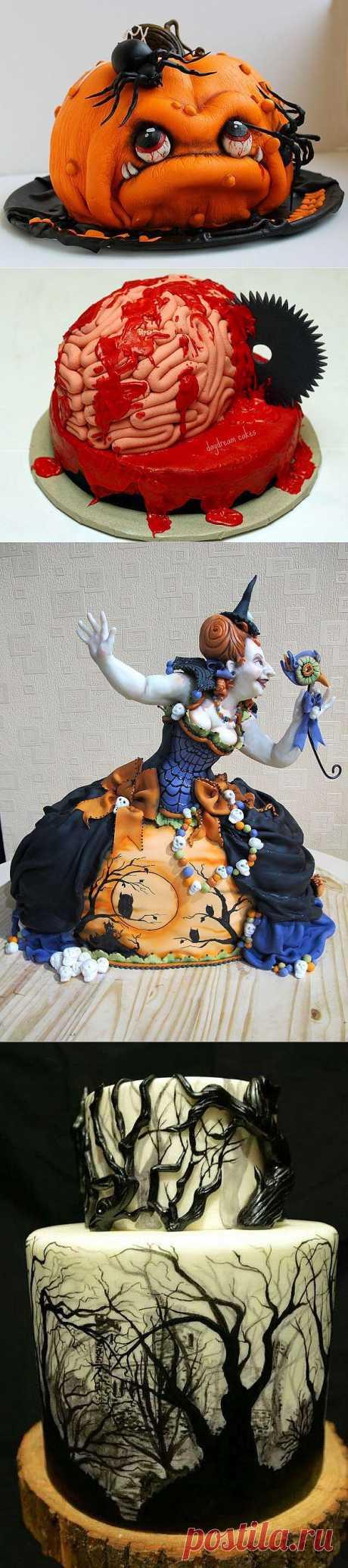 Жуткие и страшные торты на Хэллоуин | MirFactov — всё самое интересное!