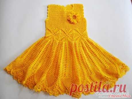 """Платье для девочки """"Весенний цветок"""" - Вязание - Страна Мам"""