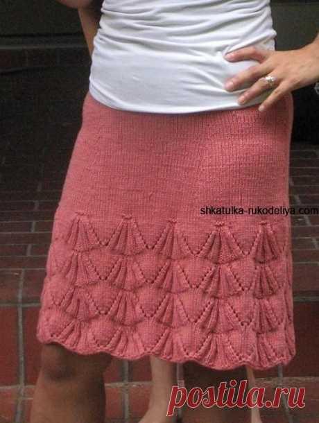 Как связать юбку спицами для начинающих.