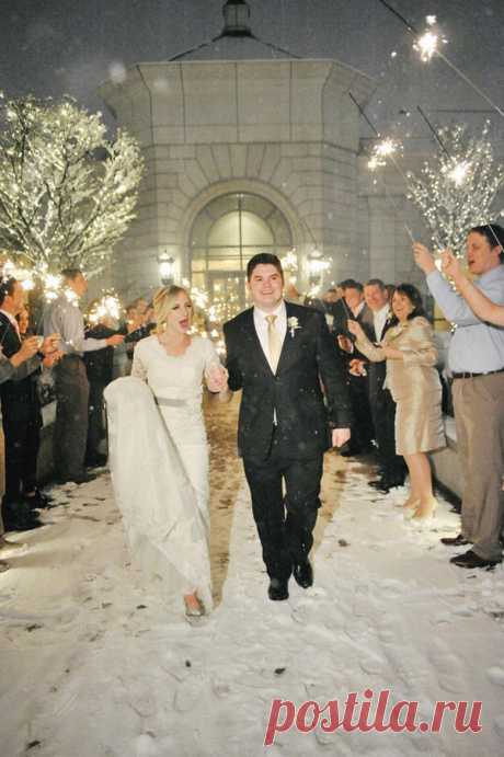 Идеи фотосессии свадьбы зимой