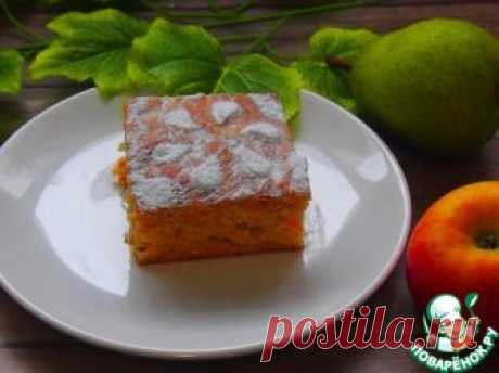 Морковно-грушевый пирог – кулинарный рецепт