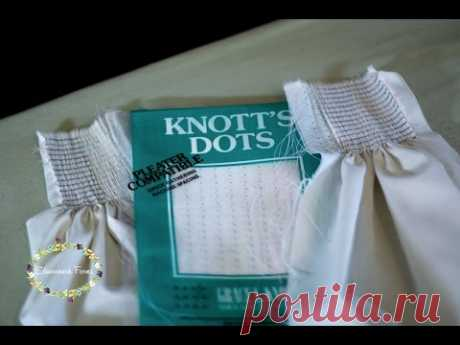 How to pleat by dots for smocking | Heirloom Sewing