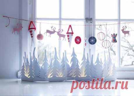 Украшения на окна на Новый год: фото эксклюзивных вариантов с шаблонами и трафаретами.