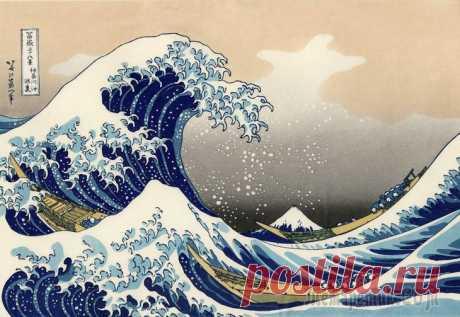 Кацусика Хокусай (葛饰 北斎, Katsushika Hokusai), 1760-1849. Тридцать шесть видов Фудзи. Серия гравюр