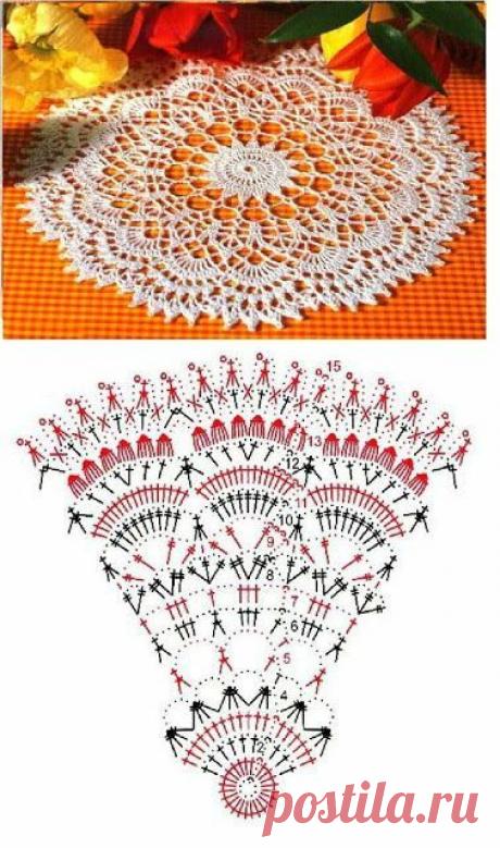 Двеннадцать салфеток крючком со схемами | Вязание, рукоделие, хобби | Яндекс Дзен