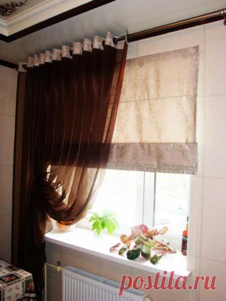 Какие шторы лучше всего смотрятся на кухне