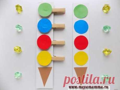 Игра собери по образцу мороженое Развивающая игра Развивающая игра собери по образцу. Мастер-класс по изготовлению развивающей игры «Собери мороженое по образцу». Содержит подробное описание с фотографиями.
