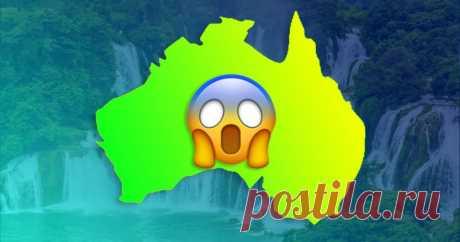🌊 В Австралии водопады текут снизу вверх. Да, такое бывает У них там всё перевернутое!