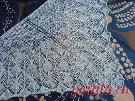 Купила нитки - шали быть! Схема шали Калиста (спицы) | Tvorlen (непутёвые заметки) | Яндекс Дзен