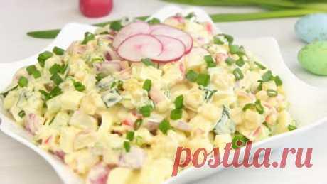 Кашеварим: Салат на Пасху — новый крабовый, рекомендую всем!