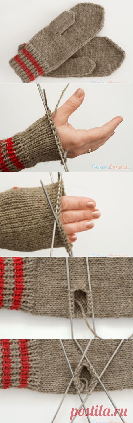 Вязание варежек на 5 спицах: пошаговые фото