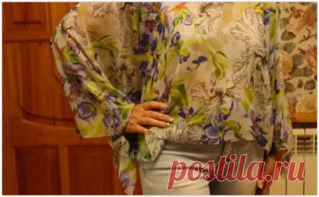 Простая, но красивая блузка-туника за 5 минут своими руками!.