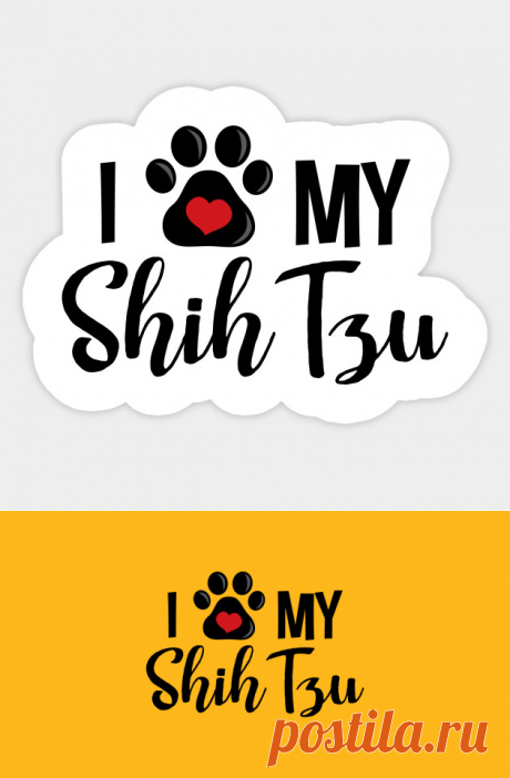 Amo a mi Shih Tzu - Shih Tzu - Pegatina | TeePublic MX