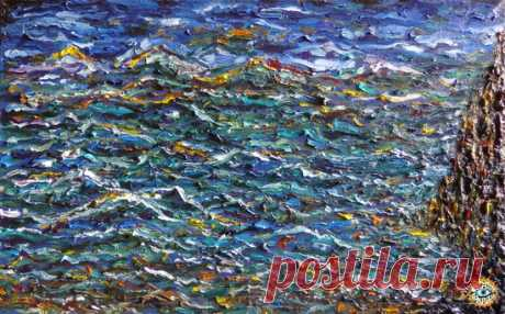 """Твой Берег Сокровищ / Your Treasure Coast "" canvas / oil 80 x 50 cm (N. Boundariver)  к альбому CRAZY COMPASS planet band - Древо Жизни / Life Tree - METICULOUS MIDGETS - сетевой арт-лейбл, интернет-радио"