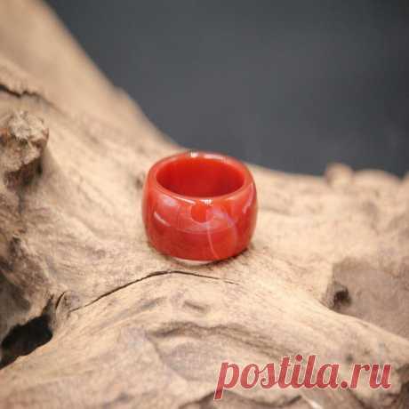 Red Chalcedony Men's Ring/Mens Jade Ring/Mens Jade | Etsy