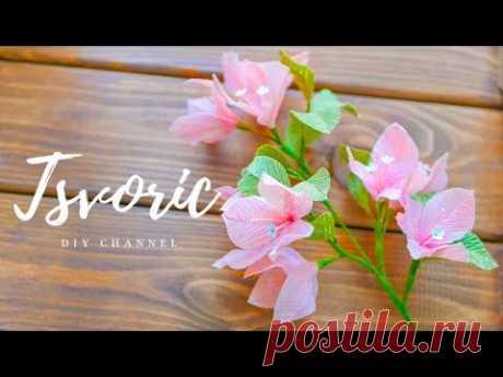 КРАСИВЫЕ цветы из бумаги / БУГЕНВИЛЛИЯ /DIY TSVORIC