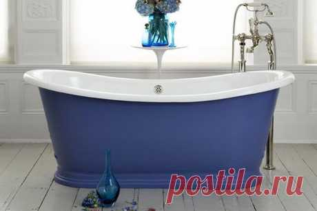 Синий цвет для ванной комнаты