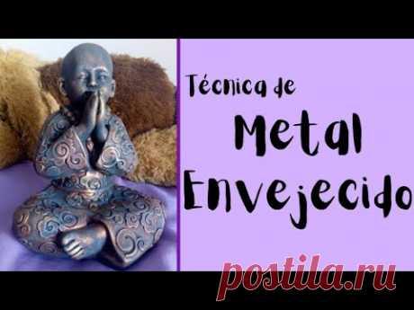 Efecto Metal Envejecido. Buda. DIY @Amo Pintar - YouTube