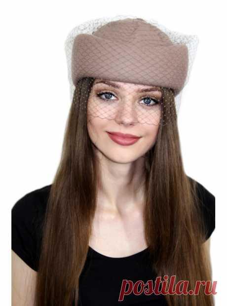 "Таблетка ""Верити"", шляпка, женская, весенняя, осенняя"