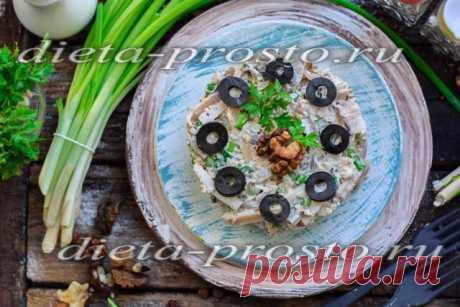 Салат из кальмаров с грибами, рецепт с фото очень вкусный