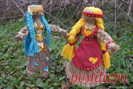 Куклы из джутового шпагата. Видео мастер-класс