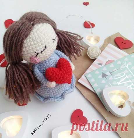 Кукла Валентинка описание амигуруми | Hi Amigurumi