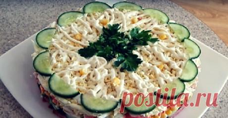Поварешки: Слоеный салат «Новинка»-очень просто, вкусно и быстро