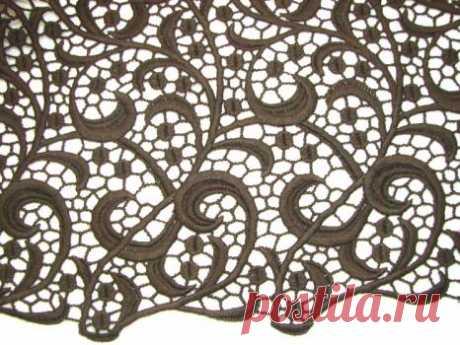 Французское макраме коричневое - купить ткань онлайн через интернет-магазин ВСЕ ТКАНИ