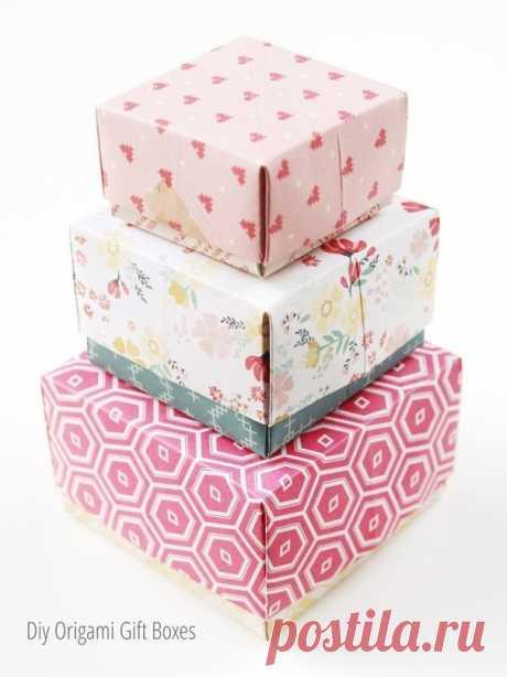 Коробочки в технике оригами