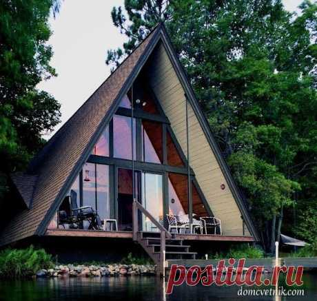 Дом-шалаш — оригинальная альтернатива стандартным загородным домам   domcvetnik.com